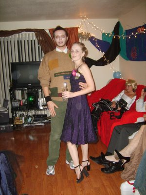My date for Zombie Prom was one of the zombie chaperones.  Scandalous!