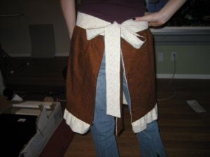 Hot chocolate apron - back