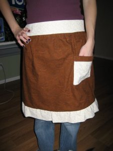 Hot Chocolate apron - front