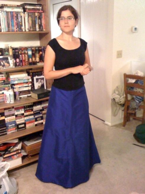 Cobalt Blue Ballgown Skirt