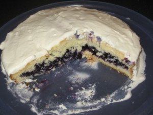 Blueberry-filled cake