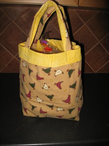 lunch bag - chickens