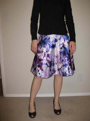 watercolor purple skirt - front
