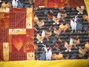 chicken quilt II nov 2009 close-up