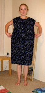 navy floral dress before 12-18-10