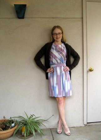 hotel room dress after with sweater