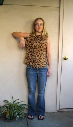 leopard print blouse before