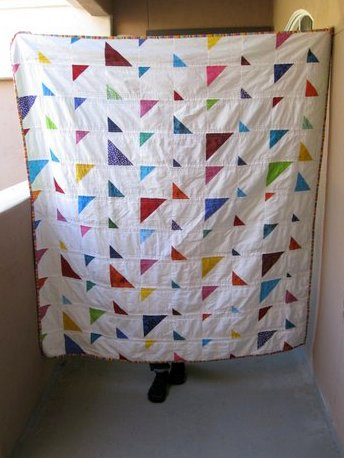 triangles quilt landing
