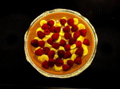 banoffee pie raspberry layer
