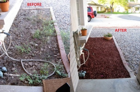 front side bed before and after